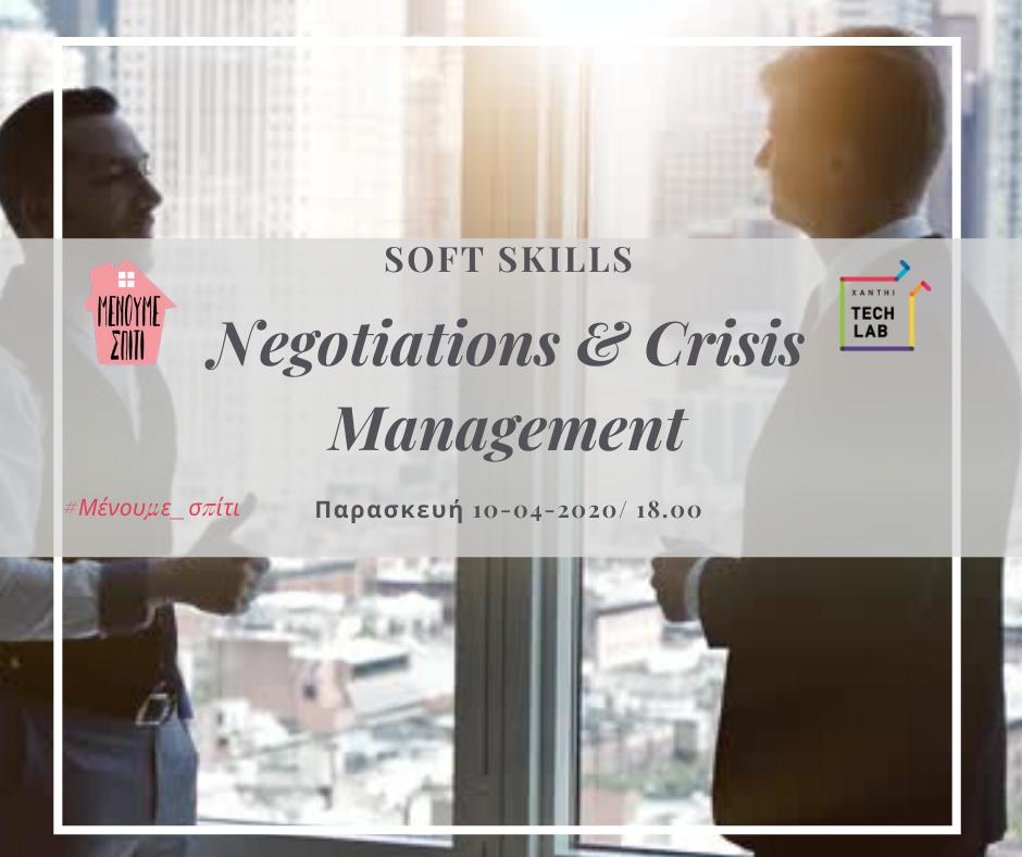 Negotiations & Crisis Management